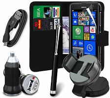 6 in 1 Accessory Pack Leather Wallet Flip Card Slot Case For Nokia Lumia 625