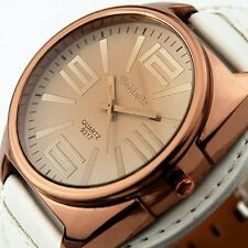 New Fashion Leather Men Stylish Oversized Face mens watches Vintage watch часы F