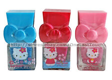 HELLO KITTY Shimmer NAIL POLISH w/BOW CAPS Blue+Hot Pink+Light Pink *YOU CHOOSE*