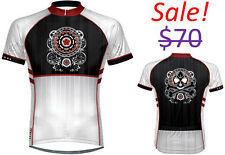 Primal Wear Men Western Skull Road Mountain Bike Cycling Race Cut Fit Jersey