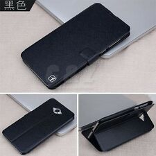 4Colors Wallet Flip Leather Case + Screen Film For Lenovo S930 a