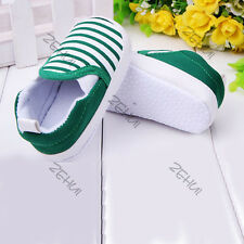 Kids Toddler Baby Unisex Boys Girls Striped Anti-Slip Sneakers Soft Bottom Shoes