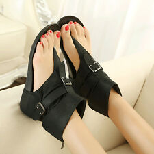 Goth Ankle Boots Flip Flops Womens Flats Sandals Roman Shoes Party Gladiator SEX