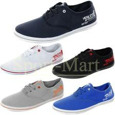 Mens Henleys Charlie Canvas Lace Up Pumps Plimsolls Flat Trainers Shoes Mens Siz