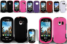 Any Solid Cover Hard Case+Free Screen Protector For LG Extravert  Phone VN271