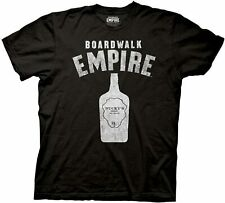 Adult Black Drama TV Show Boardwalk Empire Tommy Guns and Bottle T-Shirt Tee