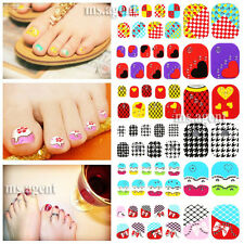 Nail Art 22PCS French Natural Salon Toe Tips Decoration Decals Stickers Manicure