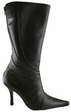 SACHI MADRAS WOMENS/LADIES LEATHER MID CALF BOOTS/HEELS/FASHION ON EBAY AUS