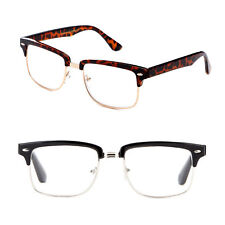 New Rectangular Half Frame Clubmaster Style Reading Prescription Glasses Readers