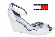 Strap Sandals Tommy Hilfiger Pumps High Heel Sandals White # 207
