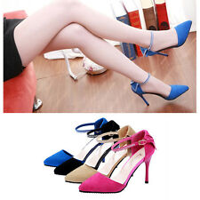 Fashion Lady OL Pointed Toe High Heels Summer Low Vamp Flat Sole Shoes Sandals