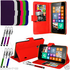 Leather Stand Wallet Flip Mobile Phone Case Cover For Nokia Lumia 630