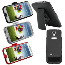 Holster Case w/ Belt Clip Slide Cover Stand Holder for Samsung Galaxy S4 SIV S 4
