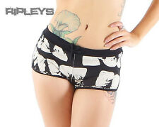 Iron Fist Ladies Goth Skull Black LOOSE TOOTH Beach Shorts All Sizes