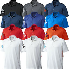 Adidas Golf 2014 Mens ClimaCool 3-Stripes Polo Shirt