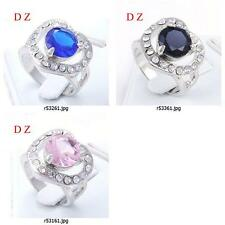 r531m01 Size Pick Free Ship Love Heart Gemstone Diamante CZ Finger Cocktail Ring