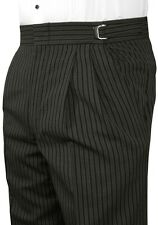 Mens Hickory Striped Morning Trousers Victorian Tuxedo Pants Vintage Dickens