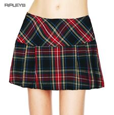 HELL BUNNY Scottish TARTAN Mini Skirt Goth/Punk BLACK Classic All Sizes