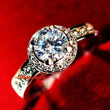 18k Rose Gold Plated Made with Swarovski Crystal Wedding Engagement Ring R32
