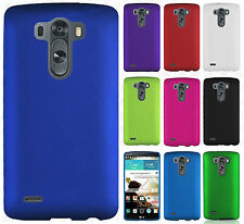 For LG G3 Rubberized HARD Protector Case Snap On Phone Cover + Screen Protector