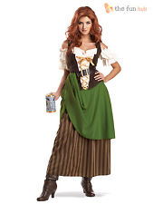 Ladies Medieval Oktoberfest Fancy Dress Costume Womens Beer Tavern Wench Outfit