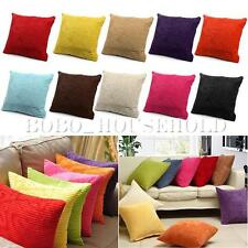 45cm Candy Striped Corduroy Pillow Case Cushion Cover Decoration Square Sofa