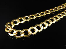 Mens Hollow 10K Yellow Gold 7 MM Miami Cuban Link Chain Necklace 22-32 Inches