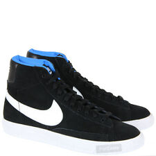 KIDS JUNIOR NIKE BLAZER MID VINTAGE HI TOP BLACK WHITE SUEDE TRANIERS SHOES SIZE