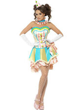 Adult Sexy Boutique Vintage Clown Circus Jester Costume Halloween