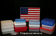 Tupperware RED WHITE BLUE Sandwich Set CHOICE ~Lock In the Freshness ~Lunch Box