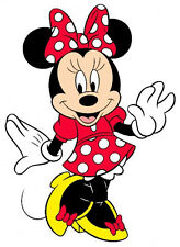 """6.5-10.5"""" DISNEY  MINNIE MOUSE WALL SAFE STICKER CHARACTER BORDER CUT"""