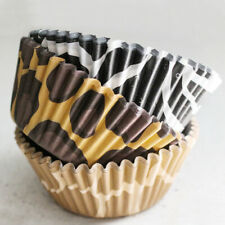 Animal Print Small Paper Cupcake Liners Wrappers Mini Muffin Cups Pack of 100