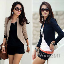 Fashion Women Long Sleeve Career Small Jacket Coat Cardigan Blazer Suit Outwear