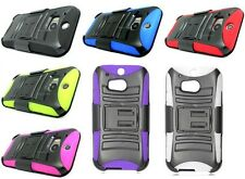For HTC Double Layer Hybrid Rugged Holster Belt Clip Stand Combo Hard Cover Case