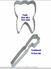Tooth or Toothbrush cookie cutter Multi listing