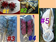 LADYBUG BUTTERFLY NET TURTLE Bug Insect Resin Craft Flat Scrapbook Miniature