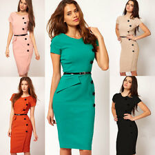 Women Lady Celeb Style Pencil Bodycon Slim Cocktail Party Casual Dress