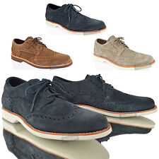 MENS BOYS TIMBERLAND LACE UP CASUAL SUEDE LEATHER SMART BROGUES SHOES SIZE