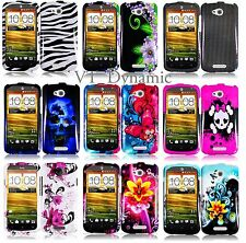for HTC One VX Design Hard  2 Piece Snap On Cell Phone Case Cover AT&T Accessory