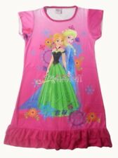 Disney Frozen Elsa + Anna Children Kids Girls Dress Pajama Skirt 3-10Yr Hot Pink
