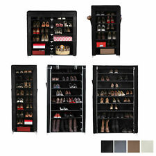 Songmics 7 / 10 Tier Black Shoe Rack Shoes Cabinet Standing Storage Organizer
