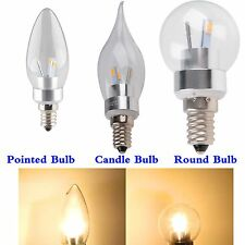 3W 110V 220V SMD 5730 Chip LED E14 Crystal Pointed Round Candle Bulb Light Lamp