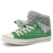 Mens Converse Padded Collar Green/White Peel Back Mid Suede Trainers Mens Shoes