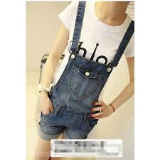 Cute Denim Shorts Strap Jeans Casual Jumpsuit Overall Shorts Denim Bib Overall