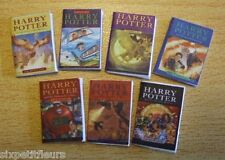 Miniature set of 7 harry potter books CHOOSE 1/12th 1/24th scale dolls house