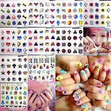 Nail Art Water Transfers Sticker Decals Eyes Cross Unicorn Monsters Mike James