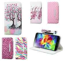 For Samsung Cute Girly Multi Design Wallet Cases Cell Phone Protector Accessory