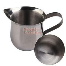 P4PM New Stainless Steel Coffee Shop Small Milk Cream Waist Shape Cup Jug