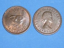 FARTHING ELIZABETH II 1953-1956 DATE OF YOUR CHOICE FROM 99p EACH FREE UK P&P