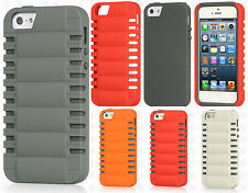 Apple iPhone 5 5S SE HARD Hybrid Rubber Silicone Case Cover + Screen Protector